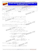 Kỹ thuật phân tích phân tử giải hệ phương trình luyện thi đại học