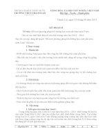 KẾ HOẠCH ĐỔI MỚI PHƯƠNG PHÁP DẠY HỌC MÔN TOÁN 6 8