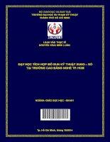 Dạy học tích hợp mô đun kỹ thuật xung – số tại trường Cao đẳng nghề Tp. Hồ Chí Minh