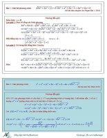 các bài toán phương trình , hệ phương trình trong đề thi đại học