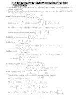 phương phap giải hệ PT BPT vô tỉ ôn thi THPT QUOC GIA(co loi giai chi tiet)