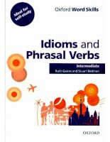 OWS idioms and phrasal verbs int