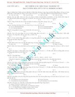 Tổng hợp bài tập lí thuyết hóa học hữu cơ luyện thi đại học cấp tốc