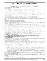 Câu hỏi trắc nghiệm chương 1 môn Sinh học 9