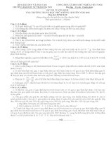 20 đề thi vào 10 chuyên Sinh