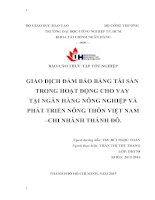 Bài Báo Cáo về Giao Dịch Đảm Bảo Tài Sản trong hoạt động cho vay tại ngân hàng