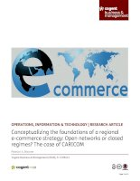 Conceptualizing the foundations of a regional ecommerce strategy: Open networks or closed regimes? The case of CARICOM