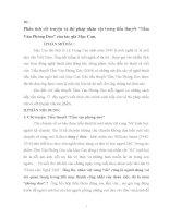 Phân tích cốt truyện và thi pháp nhân vật trong tiểu thuyết Tấm Ván Phóng Dao của tác giả Mạc Can