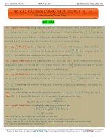 bộ câu hỏi chinh phục điểm 8, 9, 10 môn toán