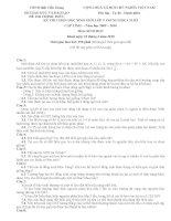 22 đề thi chọn HSG cấp tỉnh môn Sinh 9 có đáp án