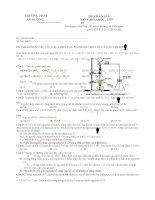 đề khảo sát hóa học lớp 10
