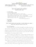 skkn PHÁT TRIỂN NGÔN NGỮ CHO TRẺ 5 – 6 TUỔI THÔNG QUA HOẠT ĐỘNG dạy TRẺ kể CHUYỆN SÁNG tạo