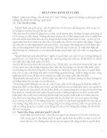 ĐỀ CƯƠNG KINH tế VI mô