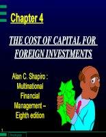 Bài giảng đầu tư quốc tế  chương 4   chi phí vốn cho đầu tư nước ngoài