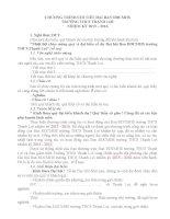 CHƯƠNG TRÌNH CHI TIẾT ĐẠI HỘI BAN ĐẠI DIỆN CHA MẸ HỌC SINH TRƯỜNG TRUNG HỌC CƠ SỞ THẠNH LỢI NHIỆM KỲ 2015 – 2016