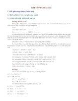 Các dạng bài tập định tính môn hóa học 9