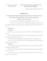 KẾ HOẠCH ĐỔI MỚI PHƯƠNG PHÁP DẠY HỌC NGỮ VĂN 6 MỘT SỐ PHƯƠNG PHÁP GIÚP HỌC SINH ĐẦU CẤP YÊU THÍCH HỌC PHÂN MÔN TIẾNG VIỆT CỦA HỌC SINH KHỐI 6  TRƯỜNG THẠNH LỢI