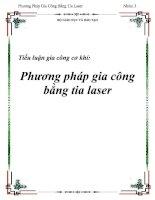 tiểu luận gia công cơ khí pp gia công bằng tia laser
