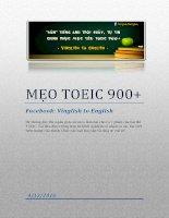 Mẹo TOEIC 900+   vinglish to english