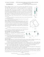 Đề thi học sinh giỏi môn vật lý 9 tỉnh vĩnh phúc năm học 2015   2016(có đáp án)
