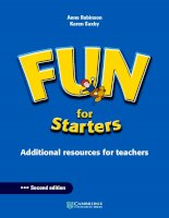 Fun for starters additional resources for teachers