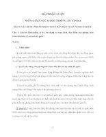 BÀI THẢO LUẬN môn GIÁO dục QUỐC PHÒNG AN NINH 2