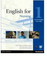 Lg english for nursing 1