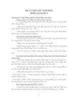 Đề cương ôn tập Lịch sử 8 học kỳ II