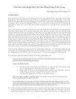 Thử tìm giải pháp thủy lợi cho đồng bằng cửu long
