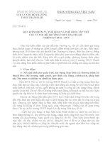 BẢN KIỂM ĐIỂM TỰ PHÊ BÌNH VÀ PHÊ BÌNH TẬP THỂ CHI UỶ CHI BỘ TRƯỜNG THCS THẠNH LỢI  NHIỆM KỲ 2012 2015