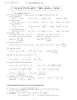 các dạng phương trình lượng giác có trong đề thi đại học có đáp án