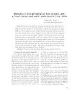 Nguyên lý chủ quyền nhân dân và biểu hiện của nó trong nhà nước pháp quyền ở Việt Nam
