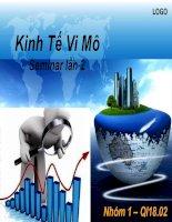 SEMINAR KINH TẾ VI MÔ
