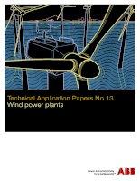 Tài liệu thiết kế vận hành và bảo trì điện gió của ABB