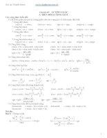 chuyên đề lượng giác ôn thi đại học rất hay file pdf