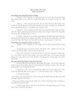 Đề cương ôn tập Lịch sử 9 học kỳ II