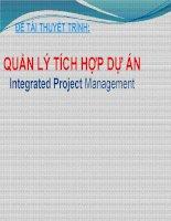 Tìm hiểu về integrated project management [ dịch tiếng việt ]