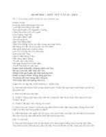 BỘ ĐỀ ĐỌC - HIỂU NGỮ VĂN 10 - HK2