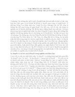 Vai trò của lý thuyết trong nghiên cứu nghệ thuật ở việt nam
