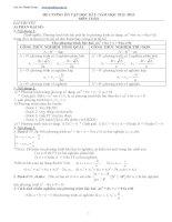 đề cương ôn tập học kì 2 môn toán lớp 9