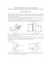 MỘT SỐ BÀI TẬP THỦY LỰC, THỦY VĂN (Dành cho sinh viên ngành Xây dựng dân dụng và Vật liệu xây dựng)