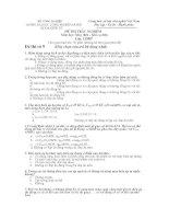 ĐỀ THI TRẮC NGHIỆM Môn học Máy điện  Khí cụ điện: đề số 9