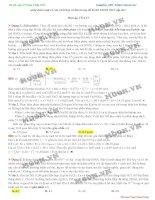 Tổng hợp những bài hóa học hay và khó trong đề thi THPT Quốc gia