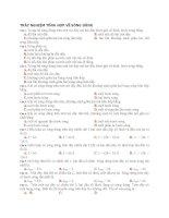 TRẮC NGHIỆM TỔNG hợp về SÓNG DỪNG   vat ly 12