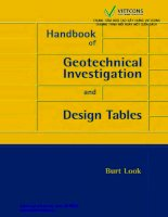 Handbook of geotechnical investigation and design tables