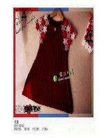 Các mẫu Chart Móc Váy Áo cho bé gái cực dễ thương