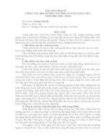 BÀI THU HOẠCH CÔNG TÁC BỒI DƯỠNG THƯỜNG XUYÊN GIÁO VIÊN NĂM HỌC 2013 12014