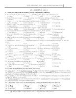 Tuyển tập bộ đề thi học kì 2 môn Tiếng Anh lớp 11 (cơ bản  nâng cao)