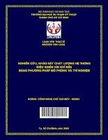 Nghiên cứu, khảo sát chất lượng hệ thống điều khiển kín khí nén bằng phương pháp mô phỏng và thí nghiệm