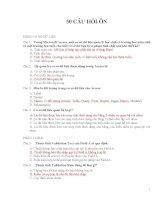 50 câu trắc nghiệm ôn tập chứng chỉ B Tin Học